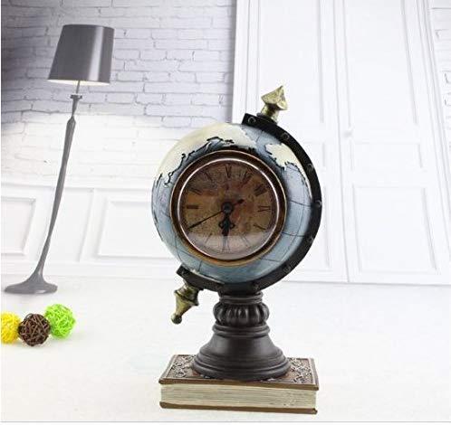 Gwill Creativo Casa Decoración Retro Resina Globo Hucha Caja De Dinero Con Reloj Tellurion Moneda Hucha Caja De Ahorro Juguete Regalo De Cumpleaños Ahorro Pot