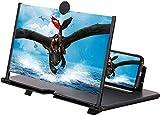 HUZIHI Amplificador de pantalla de teléfono 3D con lupa de pantalla de 14 pulgadas, lupa de pantalla, teléfono móvil, aumento 3D, pantalla de proyector para películas, vídeos y juegos (negro)