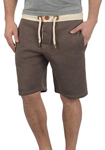 !Solid TripShorts Herren Sweatshorts Kurze Hose Jogginghose Mit Fleece-Innenseite Und Kordel Regular Fit, Größe:L, Farbe:Coffee Bean Melange (8973)