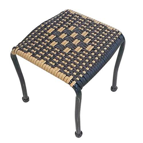 Kleine vierkante kruk rieten stoel casual schoen bank rat bank rotan stoel vissen kruk terras camping tuin barbecue bergbeklimmen