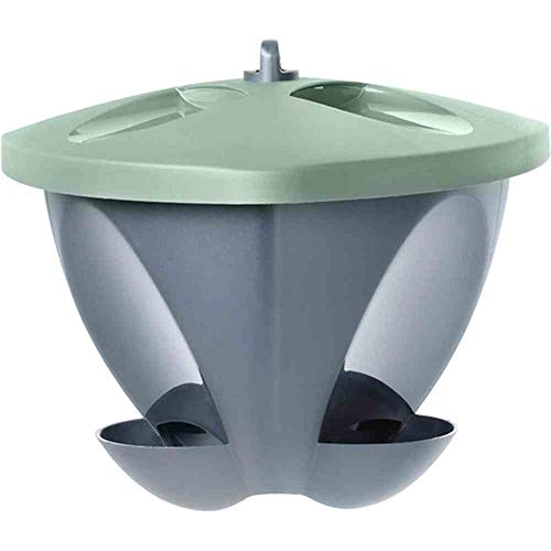 Hammerplast Vogelfutterhaus Space, 4 Liter grün-anthrazitfarben