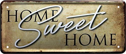 Home Sweet Home 1399 Plaque décorative en tôle 28 x 12 cm