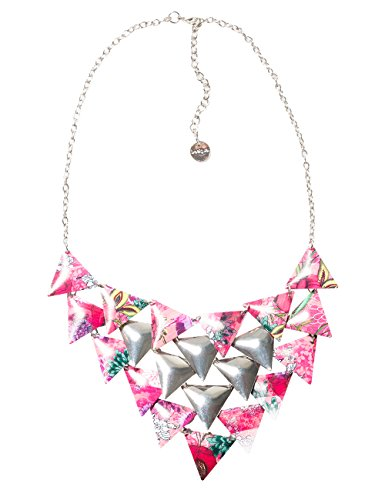 Desigual Damen-Halskette Global Traveller Versilbert-71G9EJ43047U