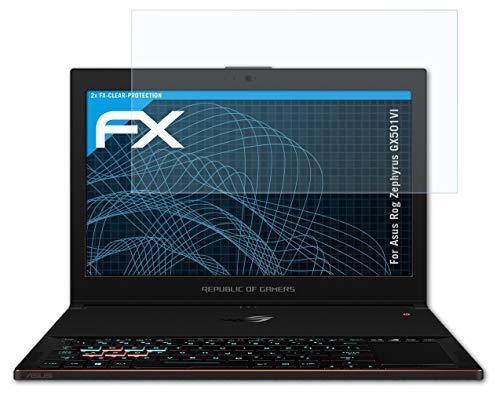 atFolix Schutzfolie kompatibel mit Asus Rog Zephyrus GX501VI Folie, ultraklare FX Bildschirmschutzfolie (2X)