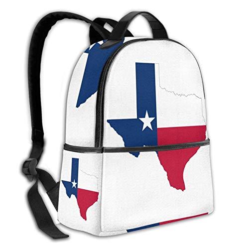 Teery-YY Texas Lone Star - Mochila de ocio con bandera de mapa del estado de la estrella, mochila de hombro, duradera, mochila de viaje, mochila escolar para hombres, mujeres, niñas y adolescentes