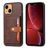 Funda para Huawei P30, funda de teléfono para Huawei P30, funda de teléfono Huawei P30, funda tipo cartera con absorción de golpes para Huawei P30 con soporte para tarjetas de soporte, color marrón