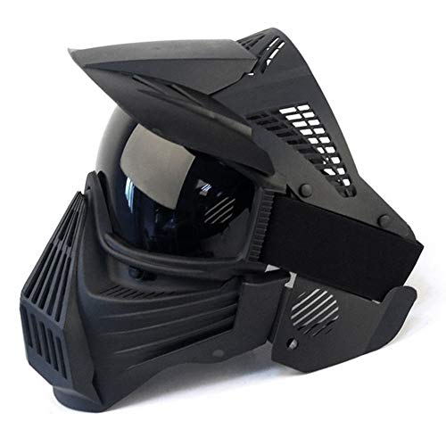 IndependentThose Tactical Paintball Mask Airsoft Masks, for Airsoft BB Hunting, CS Game Paintball Full Face Tactical Gear, Impact Resistant with Goggles, Motocross Skiing Outdoor Activities