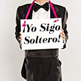 Yo Sigo Soltero Sign for Ring Bearer | Spanish Wedding Sign | I'm Still Single Funny Banner for Young Ringbearer or Single Groomsman