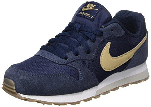 Nike Md Runner 2, Zapatillas de Running Niño, Azul (Obsidian/Mushroom/Light Bone/Gum Dark Brown), 37.5 EU