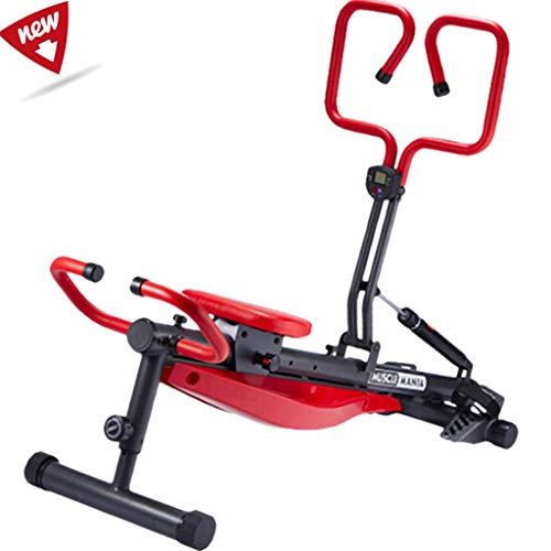 YUESFZ Rudergeräte Haushaltsgeräte Zum Stillen Abnehmen Hydraulisches Ruderboot Mit 12-Gang-Widerstand Innenklapprudergerät (Color : Red, Size : 174 * 46cm)
