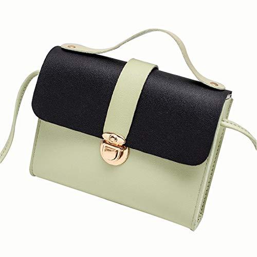 A-hyt diseño cómodo Sra. 2021 Nueva Cerradura Hebilla Color Hombro Soltero Cambio pequeño Cambio Bolso Cuadrado bajo Moda (Color : Black, Size : 18 * 4 * 14cm)