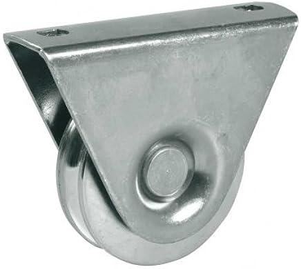 Rueda de la rueda de la rueda de la puerta de 60mm en soporte, rueda