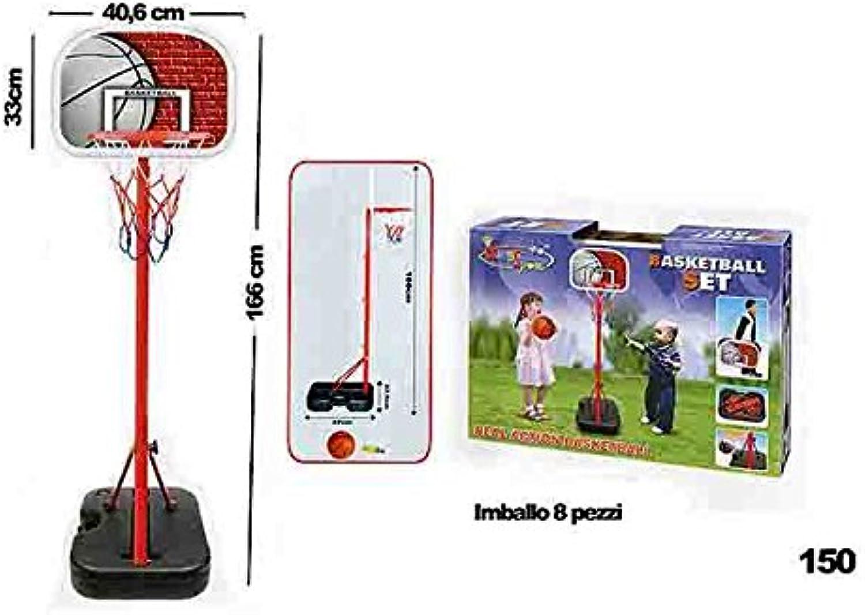 a la venta LIBERAONLINE Baloncesto Baloncesto Baloncesto con Estructura de pie 166cm Juegos educativos Aprendizaje Juguete Juego Idea ag17  precios al por mayor