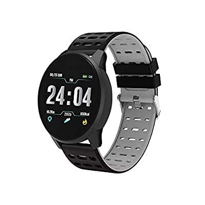 vikano Fitness Tracker, Activity Tracker Watch with Heart Rate Monitor Waterproof Smart Fitness Band with Step Counter Calorie Counter Pedometer Watch for Kids Women and Men (Gray)