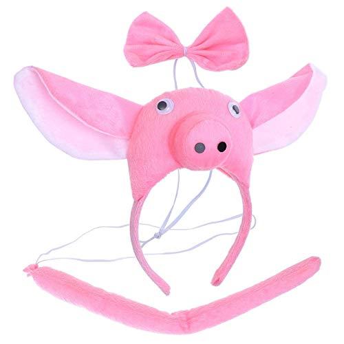 Set Orecchie Coda Maiale Bambini Carnevale 6-10 Anni Bambino Bambina Cerchietto Papillon Animali Giochi E Accessori Cosplay Per Travestimenti E Costumi