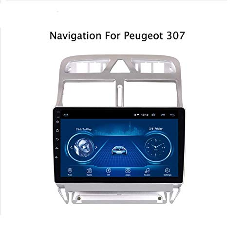 Android 8.1 Auto Radio Stereo MP5 Speler Navigator voor PEUGEOT 307 (2004-2013), GPS 9 Inch 2.5D Touch Screen, Bluetooth, Wifi, Spiegel Link,Radio Tuner (1G+16G)