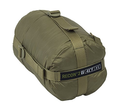 Elite Survival Systems ELSRECON2-T Recon 2 Rated to 41 Degree Fahrenheit Sleeping Bag, Coyote Tan
