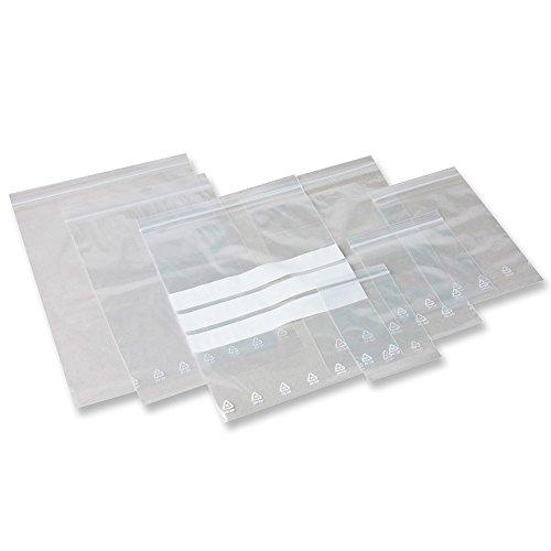 500 Druckverschlussbeutel 220 x 310 - 50 mµ x 0,05mm - 50 mµ STANDARD ZIP Tütchen LDPE x 0,05mm - 50 mµ STANDARD ZIP LDPE
