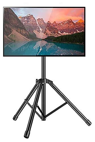 TabloKanvas TV Start-STANDPT-Stand-TV Plegable Soporte de TV con la Base del trípode Durante 26-50 Pulgadas LED LCD LCD OLED TV de Pantalla Plana/Curvada (Color : Black)
