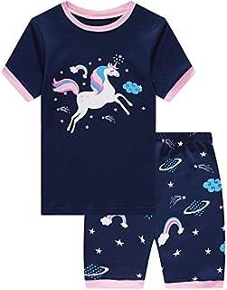 Little Pajamas Mermaid Sleepwear 100% Cotton Summer Short Toddler Pjs Clothes Shirts