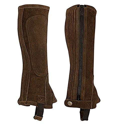 Perri's Zipper Adult Half Chap, Brown, Large