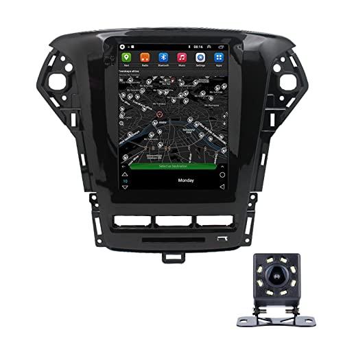 LWYJ Android 10.0 Coche Radio Estéreo para Ford Mondeo CHIA-X Pantalla Táctil De 10 Pulgadas GPS Navegación WiFi Bluetooth USB Soporte Am FM SWC con Camara Trasera,4+64G