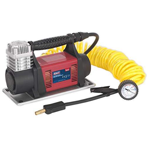 Sealey MAC06 12 V Hochleistungs-Reifenfüller/Mini-Luftkompressor, mehrfarbig, 12 Stück