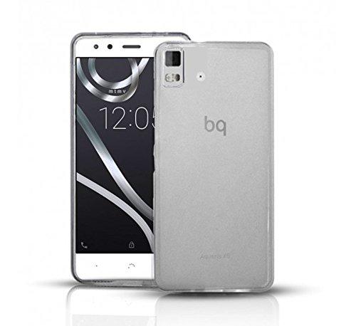 Todobarato24h Funda Gel Lisa Transparente Compatible con BQ AQUARIS E5 HD FHD