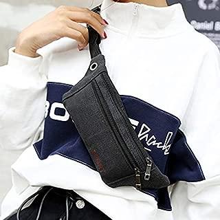Fashion Single-Shoulder Bags Cavans Single Shoulder Bag Waist Bag Chest Bag Messenger Bag (Black) (Color : Black)
