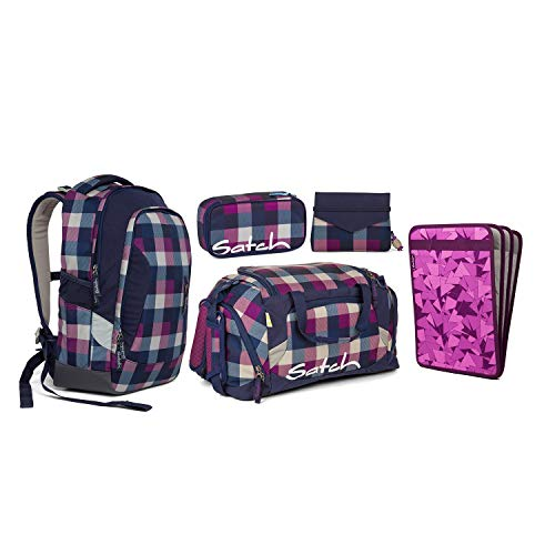 Satch Sleek Berry Carry Schulrucksack Set 5tlg. Beauty & The School Ed.