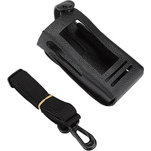 Mxzzand Compacto Ligero Fácil de Fijar con Clip Trasero Práctico Estuche Práctico Estable para Walkie Talkie