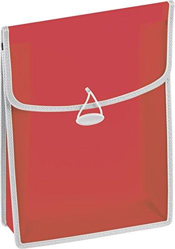 Brunnen 104163423 Heftbox / Heftsammler FACT!pp (transluzente PP-Folie, für A4, mit Gummizugverschluss) rot