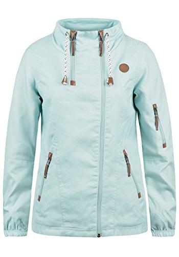 DESIRES Belle Damen Windbreaker Übergangsjacke Regenjacke Mit Stehkragen, Größe:XL, Farbe:Blue Glow (1252)