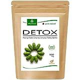 MoriVeda® - Moringa Detox 900mg Tabs - 120 o 360 - moringa, cebada, linaza y espirulina para la desintoxicación del cuerpo (1x120 tabletas)