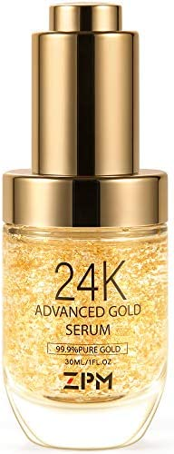 24K Gold Anti Aging Face Serum Moisturizer Enriched with Vitamin C Serum Hyaluronic Acid Vitamin product image