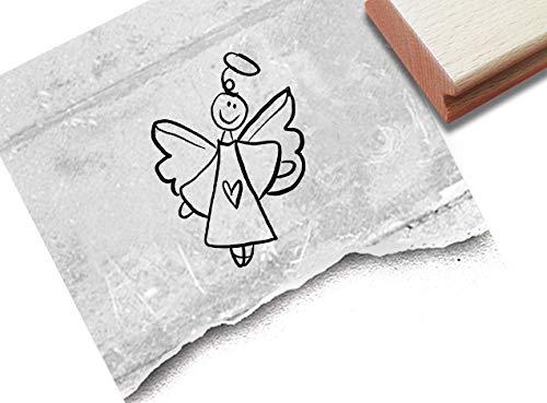 Stempel Motivstempel Engel, Schutzengel - Bildstempel Geburt Weihnachten Karten Geschenkanhänger Basteln Weihnachtsdeko Tischdeko - zAcheR-fineT