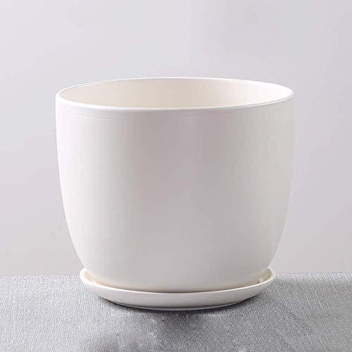 ZTMN Frühlingsmuster Gemüsetopf Porzellan Innen- / Außenblumentopf Keramik Blumen Sukkulente Pflanzgefäße Weiß Schwarz Sukkulente Blumentöpfe Innen-Außenpflanzgefäße
