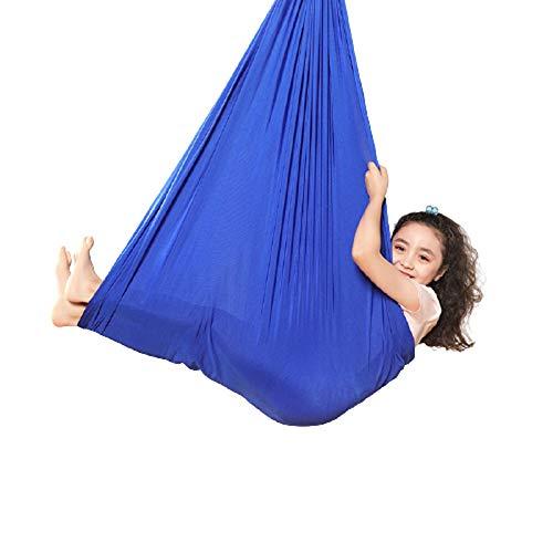 LHHL Aerial Yoga Schaukel Indoor Therapie Schaukel für Kinder mit besonderen Bedürfnissen, weiche Hängematte Schaukel ideal für sensorische Integration (Farbe: Lila, Größe: 100 x 280 cm)