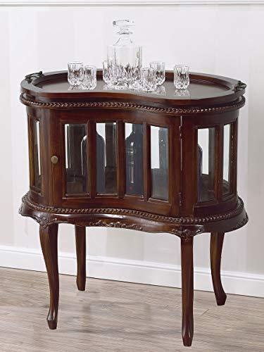 SIMONE GUARRACINO LUXURY DESIGN Table Basse Coloniale Haricot vitrine Bar casier Porte-Bouteilles Style Anglais Noyer