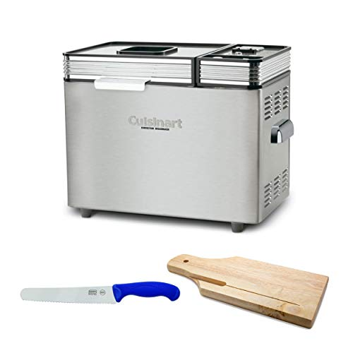 Cuisinart CBK-200 2-Pound Convection Automatic Bread Maker with 8-Inch Bread Knife and Wooden Bread Board Bundle (3 Items)