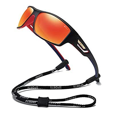 Bevi Polarized Sports Sunglasses TR90 Unbreakable Frame for Men Women Running Cycling Baseball 2518C2