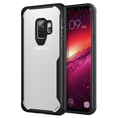 ORETECH Coque Galaxy s9, Coque Samsung S9 Transparente Housse Hybride Robuste Antichoc [Coussin d'air] Ultra Mince Mat Anti Rayures Dur PC TPU Samsung S9 Etui 5.8 Noir