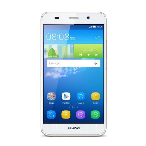 "Huawei Y6 - Smartphone libre de 5"" (Qualcomm S210 Quad Core a 1.1 GHz, 2 GB de RAM, 2 GB de memoria interna, Android) color blanco"