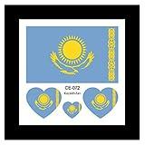 Kasachstan wasserdichte Flagge Tattoo Aufkleber Spiele Festival Party Dekoration Gleichen Stil 20 Stück