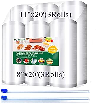 6-Pack OurWarm Vacuum Sealer Bags Rolls with 2 Slide Cutter