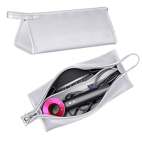 Kyrio - Borsa impermeabile per asciugacapelli, compatibile con Dyson Supersonic, borsa da viaggio portatile, portatile, antipolvere, custodia da viaggio (argento)