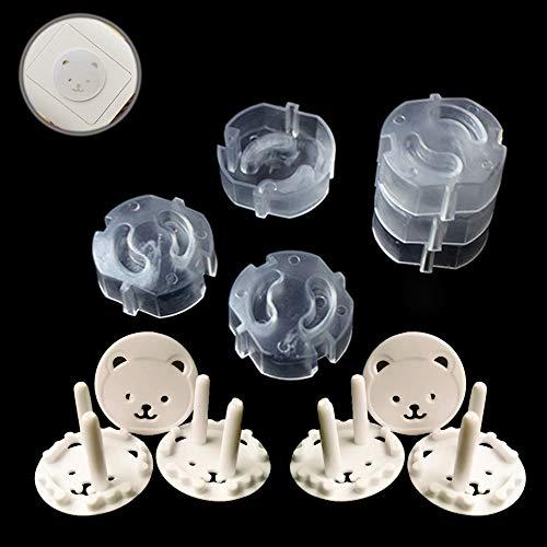 12 Pezzi Copripresa Protezioni, Presa Proof shock Guard Copri Presa Elettrica Bambini Anti-elettrico Coperture Protettive Prese, proteggi Protezioni di Sicurezza i Bambini Neonati