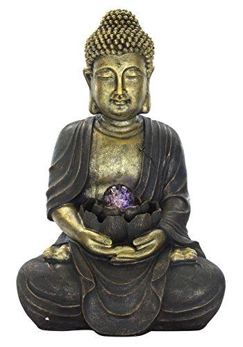 DARO DEKO Brunnen Set mit Stromstecker und Pumpe (D) Buddha