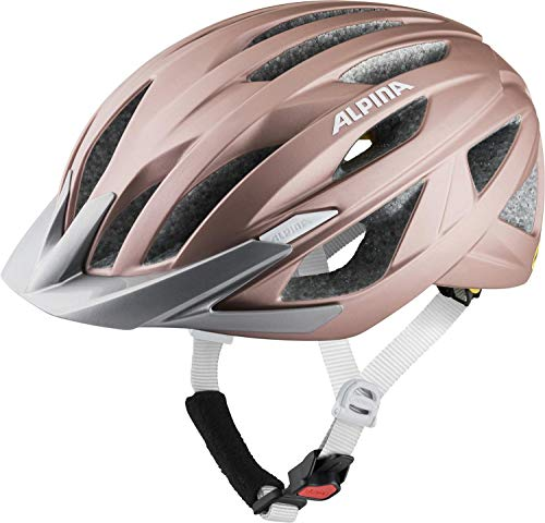 Alpina Unisex– Erwachsene Delft MIPS Fahrradhelm, Rose matt, 55-59 cm