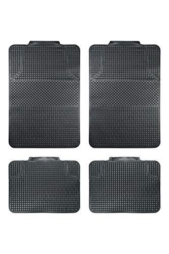 BC Corona GOM001010 Juego de 4 Alfombras de Goma para Coche Universal Color Negro recortables, Set de 4